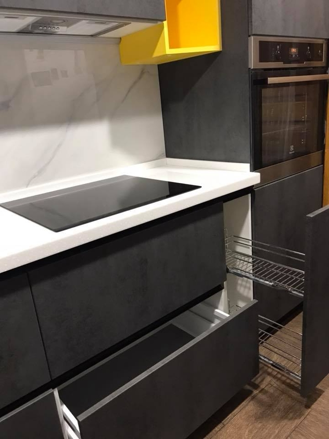 Встроенная кухня-Кухня из пластика «Модель 189»-фото6