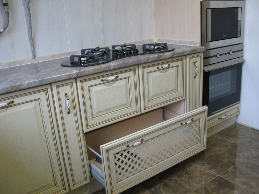 Белый кухонный гарнитур-Кухня МДФ в ПВХ «Модель 273»-фото7