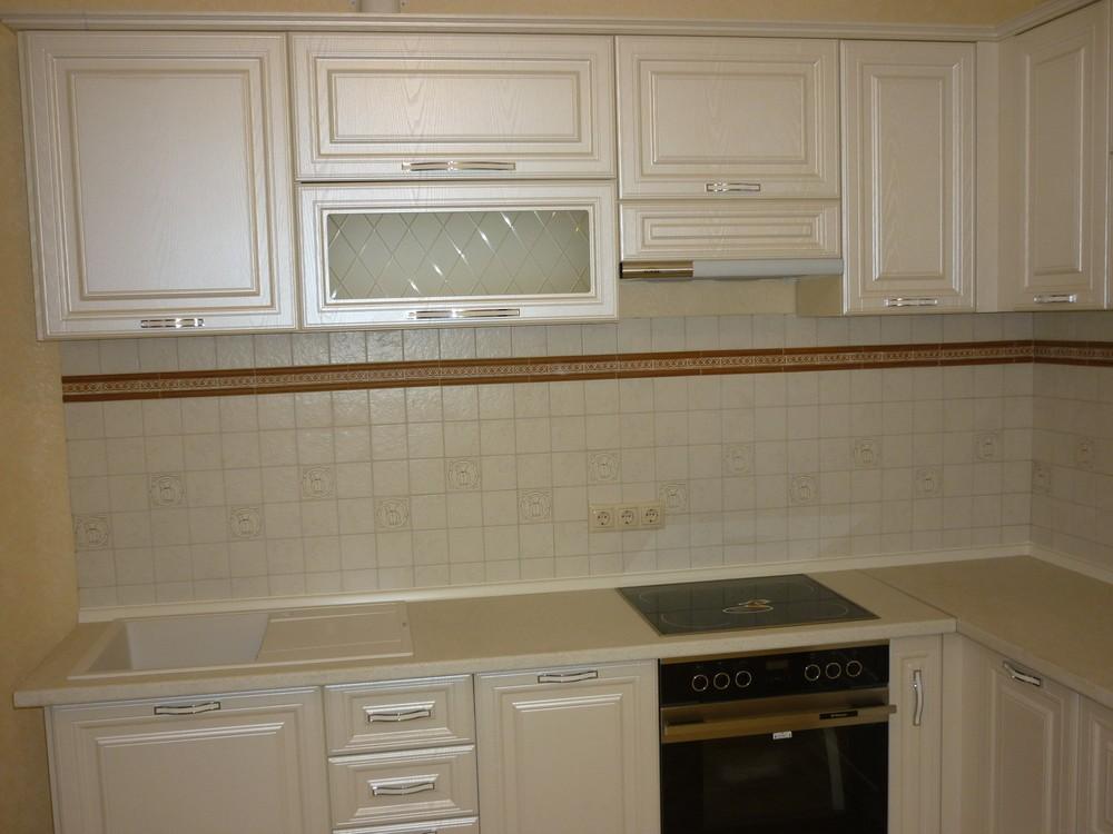 Белый кухонный гарнитур-Кухня МДФ в ПВХ «Модель 213»-фото2