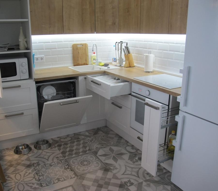 Белый кухонный гарнитур-Кухня из ЛДСП «Модель 346»-фото4
