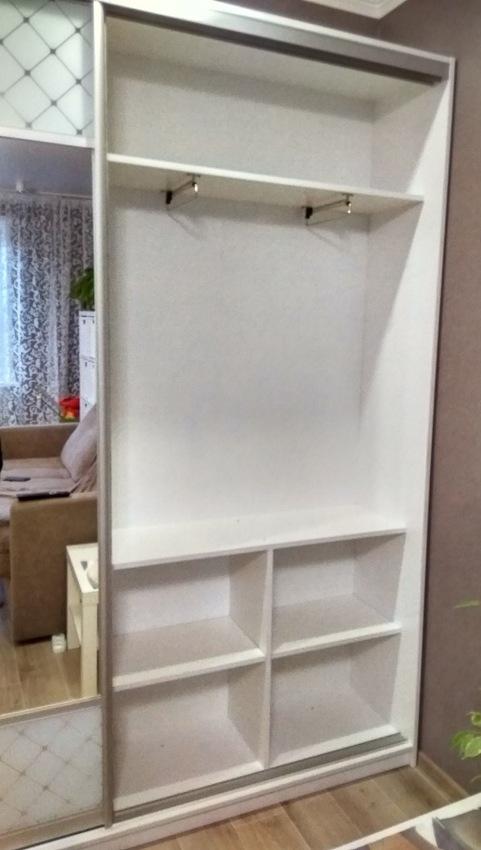 Белые шкафы-купе-Шкаф-купе с зеркалом «Модель 330»-фото3