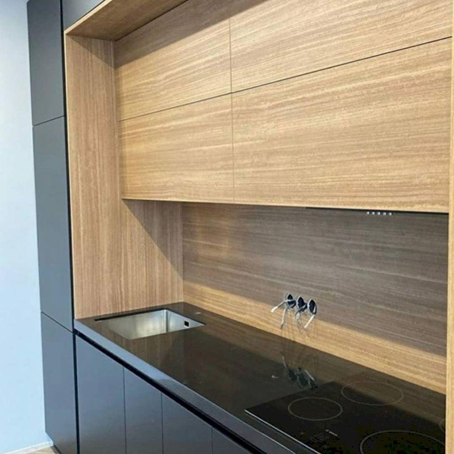 Высокие кухни под потолок-Кухня из пластика «Модель 675»-фото4