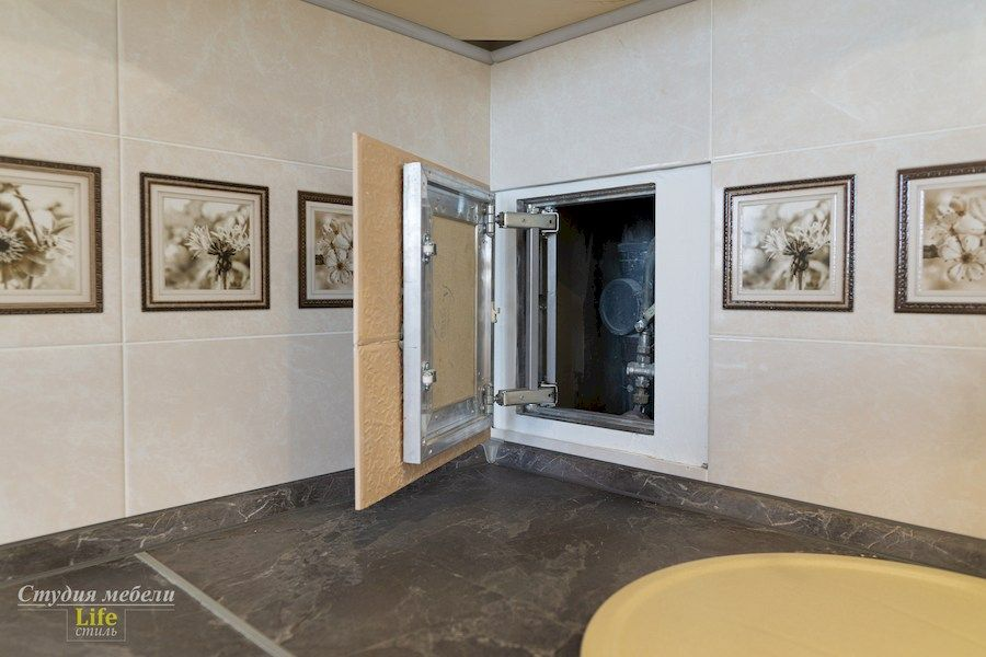 Белый кухонный гарнитур-Кухня из шпона «Модель 562»-фото6