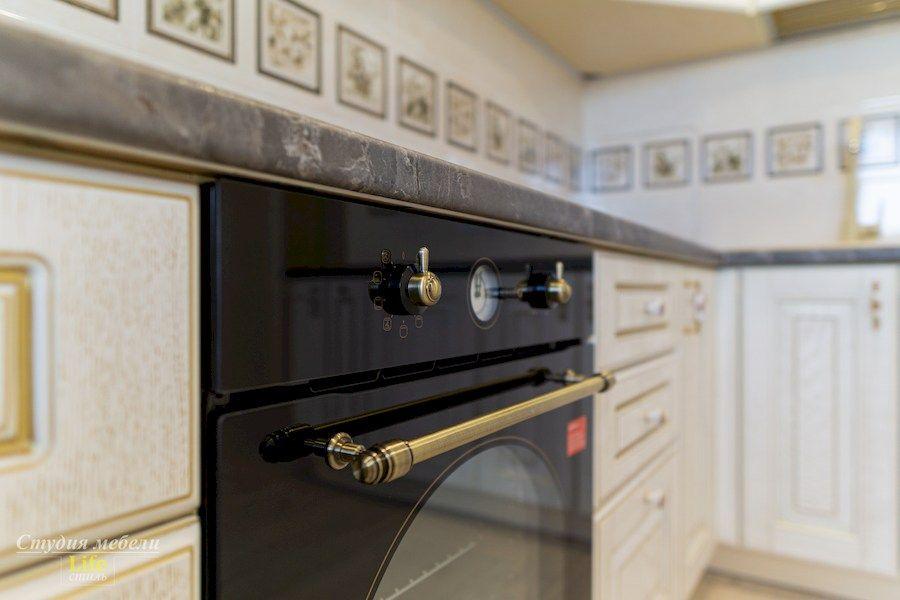 Белый кухонный гарнитур-Кухня из шпона «Модель 562»-фото10