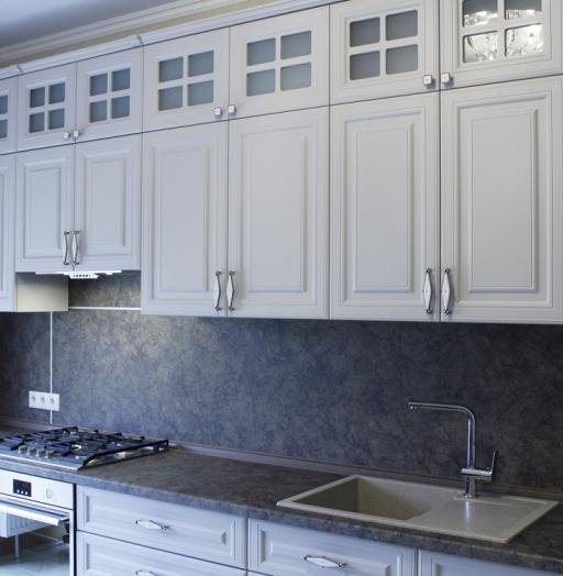 -Кухня МДФ в ПВХ «Модель 147»-фото2