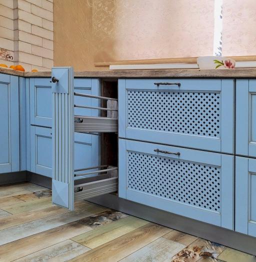 Дорогие и элитные кухни-Кухня МДФ в эмали «Модель 524»-фото11